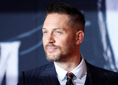 """FILE PHOTO: Cast member Hardy attends the premiere for the movie """"Venom"""" in Los Angeles"""