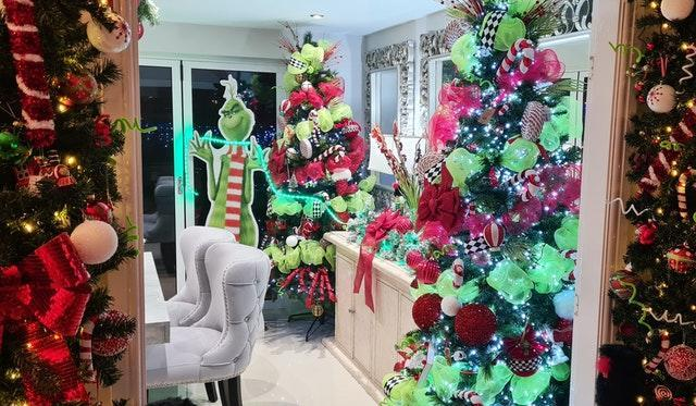 The Grinch and The Nightmare Before Christmas themed Christmas decoration