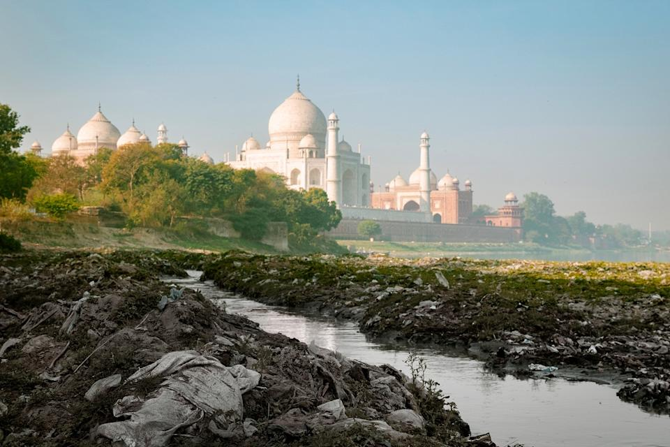River Yamuna, a tributary of the River Ganga, is the most polluted river of India - getting polluted especially around New Delhi with garbage and industrial sewage