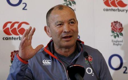 Britain Rugby Union - England Press Conference - Pennyhill Park - 16/3/17 England head coach Eddie Jones during the press conference Action Images via Reuters / John Sibley