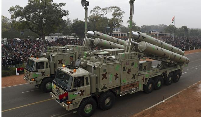 The Indian government tested a BrahMos missile system on the same day foreign ministry officials met their Chinese counterparts. Photo: AFP