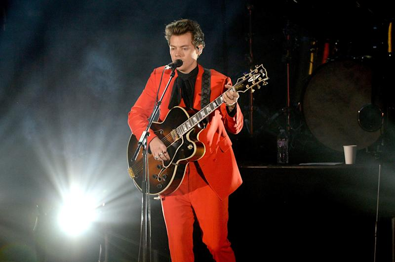 Fans of Harry Styles vented their outrage after one concertgoer appeared to grope the singer during a concert at the Hollywood Bowl on Saturday night.