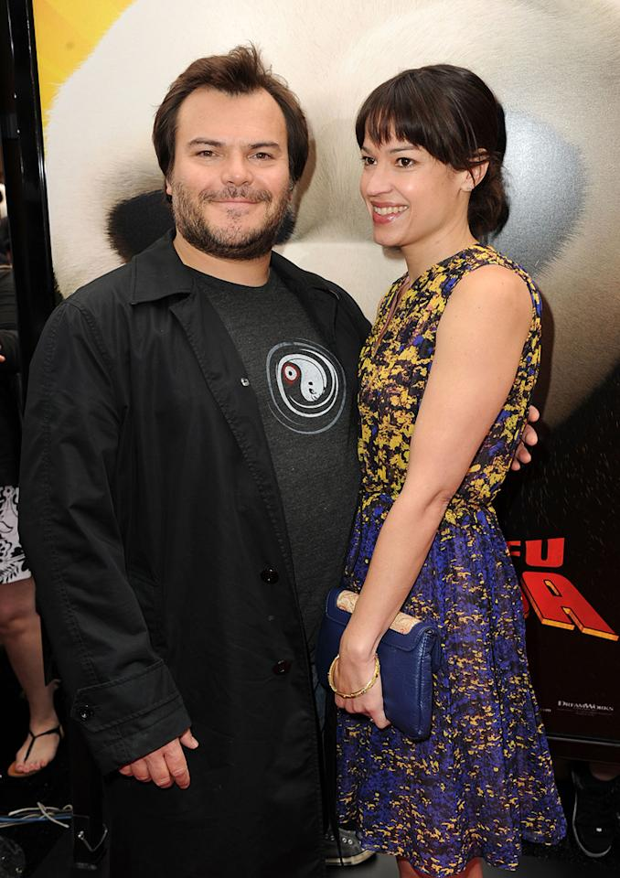 "<a href=""http://movies.yahoo.com/movie/contributor/1800180457"">Jack Black</a> and wife attend the Los Angeles premiere of <a href=""http://movies.yahoo.com/movie/1810090593/info"">Kung Fu Panda 2</a> on May 22, 2011."
