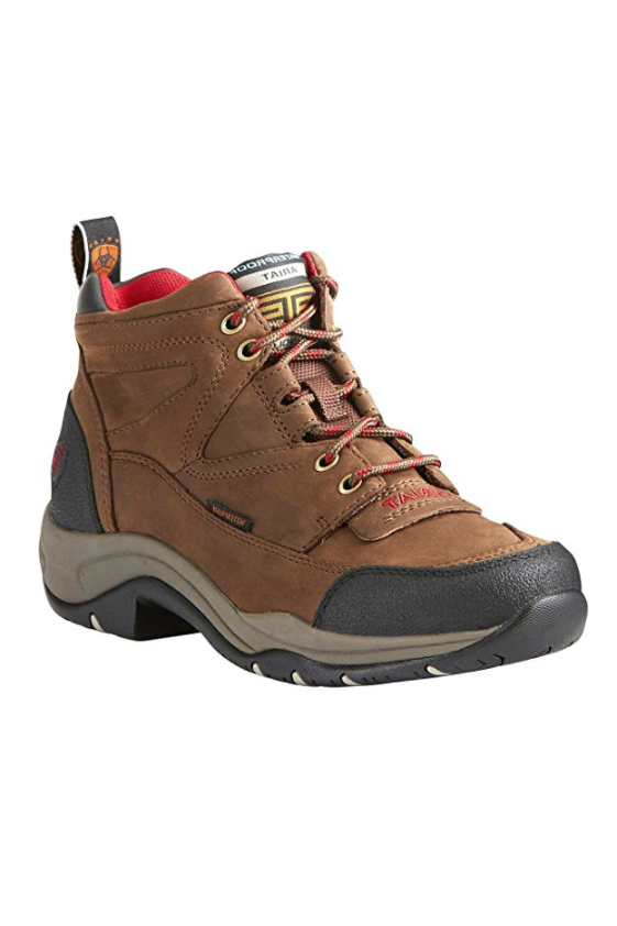 """<p>Starting at $74</p><p><a rel=""""nofollow"""" href=""""https://www.amazon.com/Ariat-Womens-Terrain-Hiking-Copper/dp/B01MSD0R5D/"""">SHOP NOW</a><br></p><p>These durable and reliable boots will keep you safe (and your feet comfortable) in all types of weather, including wet and cold conditions. """"Ice-crusted trails, rocky ledges, paths covered with two feet of fresh powder? This boot has your back,"""" one Amazon reviewer wrote.</p><p><strong>RELATED: </strong><strong><a rel=""""nofollow"""" href=""""https://www.countryliving.com/life/g20085034/hiking-quotes/"""">20 Hiking Quotes That Will Inspire Your Next Adventure</a></strong></p>"""