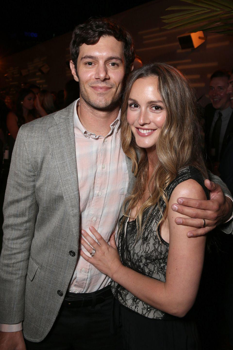 <p>The couple, who married in 2014 and have one daughter, used to star on the biggest teen dramas of their time (separate shows, but still). Besides their similar breakout acting roles and a kid, they also share identical cheekbones, eyes, and well-defined chins. </p>