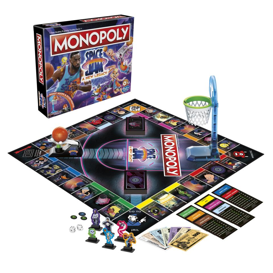 Hasbro's putting a new spin on Monopoly with a  'Space Jam: A New Legacy' edition (Photo: Hasbro)