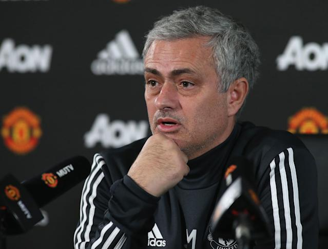 "Jose Mourinho called reports that he could leave <a class=""link rapid-noclick-resp"" href=""/soccer/teams/manchester-united/"" data-ylk=""slk:Manchester United"">Manchester United</a> at the end of the season ""garbage."" (Getty)"