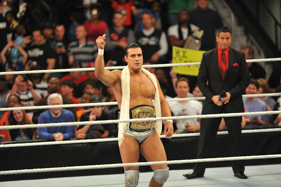 Alberto Del Rio attends the WWE Monday Night Raw Supershow Halloween event at the Philips Arena on October 31, 2011.