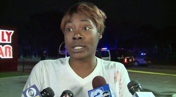 PHOTO: Shanterika Rayford, the mother of a child struck by a hit-and-run driver outside a Family Dollar in Milwaukee, Wis., on Thursday, Oct. 24, 2019, pleaded for him to surrender. (WISN)