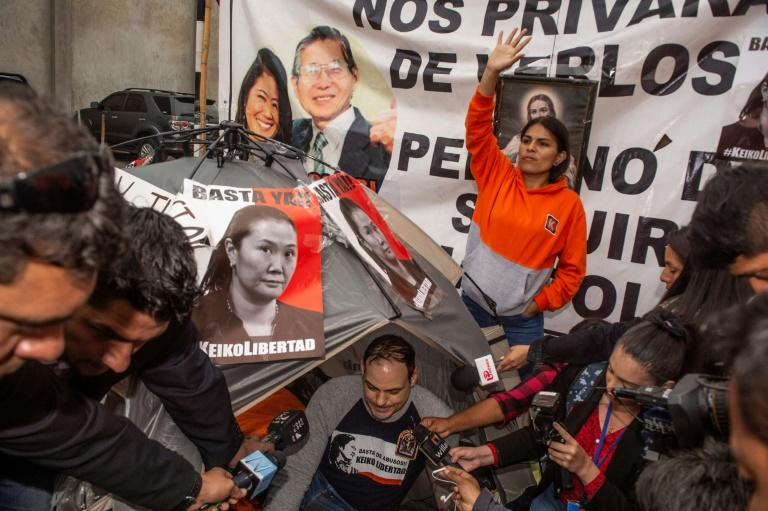 Keiko Fujimori's US-born husband Mark Vito went on a hunger strike outside her prison in an attempt to draw attention to her plight