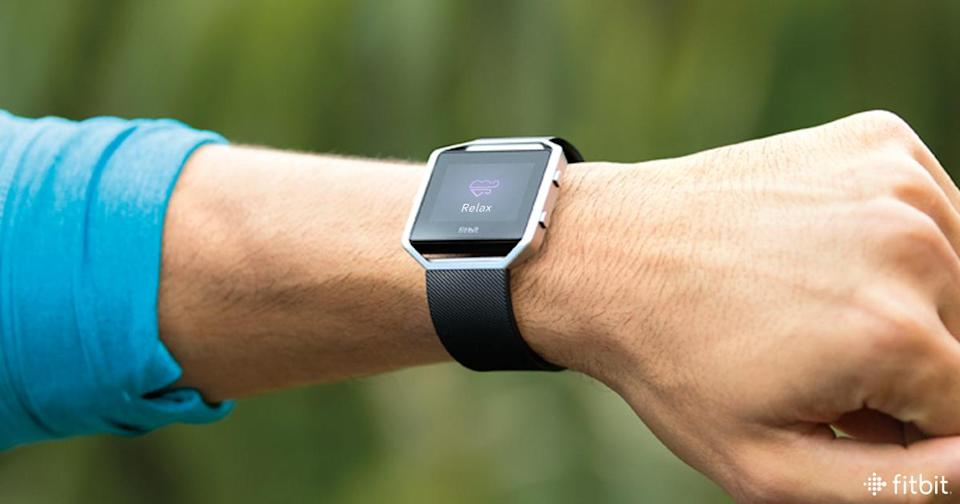 Pictured: The Fitbit Blaze, which looks very similar to Fitbit's upcoming smartwatch, based on an internal presentation deck seen by Yahoo Finance.