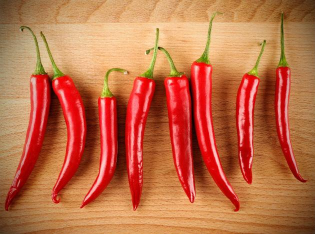 "<b>Chillies </b><br>One reason to spice up your meals: You'll crank up your metabolism. ""A compound in chiles called capsaicin has a thermogenic effect, meaning it causes the body to burn extra calories for 20 minutes after you eat the chiles,"" Zuckerbrot explains. <br><b>Eat more</b> Stuff chiles with cooked quinoa and marinara sauce, then roast them. To mellow a chile's heat, grill it until it's almost black, peel off charred skin and puree the flesh, Krieger says. Add the puree to pasta sauces for a one-alarm kick. Or stir red pepper flakes into any dish you enjoy."