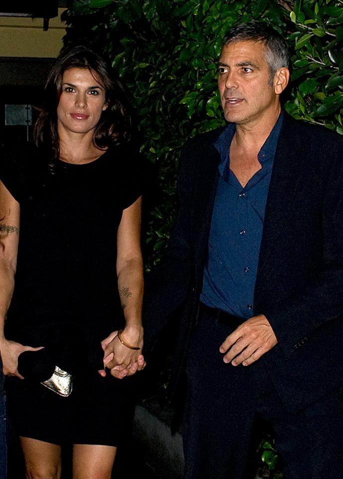 "Ever since George Clooney's girlfriend, Elisabetta Canalis, was spotted in Italy wearing a gold band on her left ring finger, there's been rampant speculation that the couple may have tied the knot. Find out the truth from Clooney's rep over at <a href=""http://www.gossipcop.com/george-clooney-girlfriend-elisabetta-canalis-gold-band-wedding-ring/"" target=""new"">Gossip Cop</a>. Robinson/Butterworth/<a href=""http://www.splashnewsonline.com"" target=""new"">Splash News</a> - June 4, 2010"
