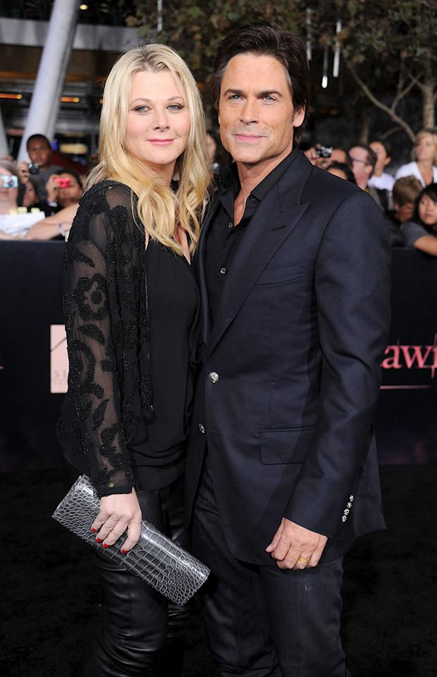 "<a href=""http://movies.yahoo.com/movie/contributor/1800012194"">Rob Lowe</a> and guest at the Los Angeles premiere of <a href=""http://movies.yahoo.com/movie/1810158314/info"">The Twilight Saga: Breaking Dawn - Part 1</a> on November 14, 2011."