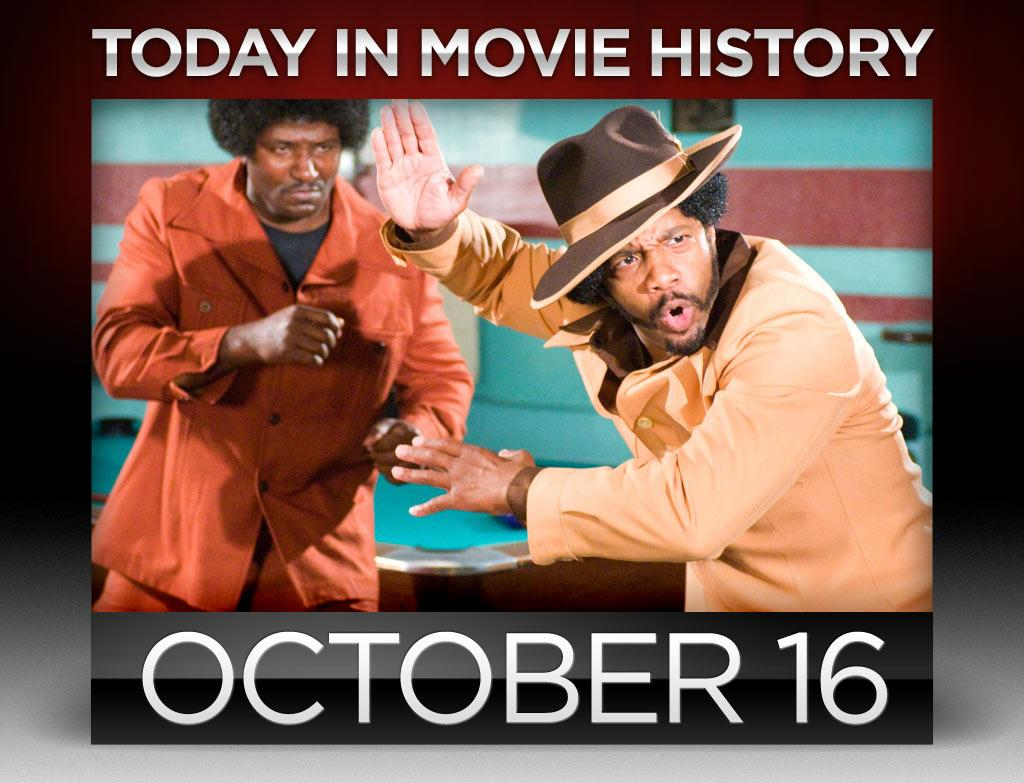 """<b>2009</b> – One of our <a href=""""http://movies.yahoo.com/100-movies-to-see-before-you-die/100-funniest-movies/"""">100 Funniest Movies to See Before You Die</a>, """"Black Dynamite,"""" opened in limited release on this day. He's not Shaft. He's not Dolemite. Baltimore Colts All-Star running back Ferrante Jones is Black Dynamite, and he's here to fight smack in the orphanage. Michael Jai White stars as a gun-toting, nunchuck-wielding ladies' man and soul brother in this pitch-perfect parody of 1970s blaxploitation flicks. It's a hilarious, affectionate homage to a bygone genre, from the decidedly awful acting to low-budget production values. It ain't easy being this bad, but this movie hits the bull's-eye. Dy-no-mite!"""