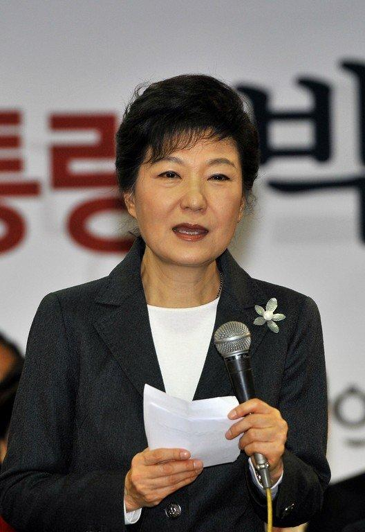 "South Korea's president-elect Park Geun-Hye is shown in Seoul on December 20, 2012. Park, who had urged outgoing president Lee Myung-Bak not to hand out controversial pardons, felt it was ""extremely regrettable"" that he had decided to go ahead"