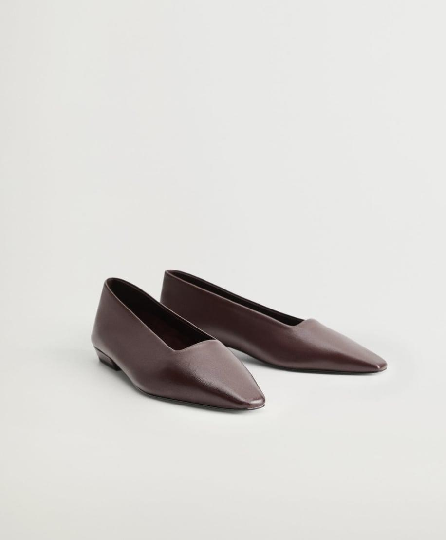 <p>This <span>Mango Leather Ballerina Flats</span> ($40, originally $80) are a great deal!</p>