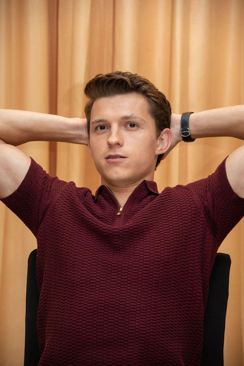 <p>Tom Holland at the <em>Spider-Man: Far From Home</em> Press Conference on May 27, 2019 in Nusa Dua, Bali, Indonesia.</p>