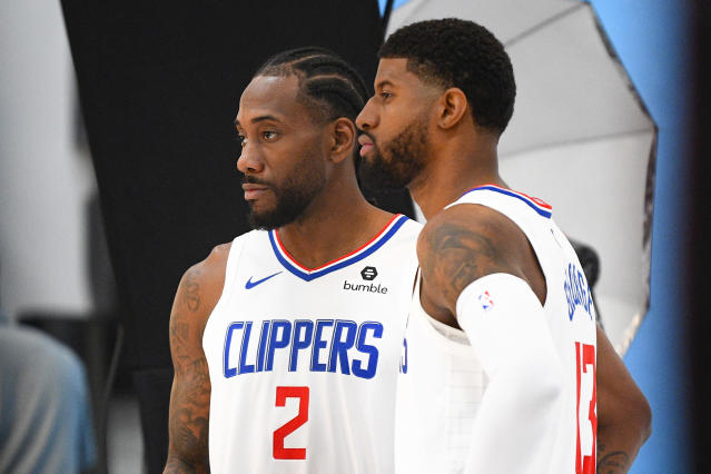The clock is already ticking on the Kawhi Leonard and Paul George era on the Clippers. (Getty Images)