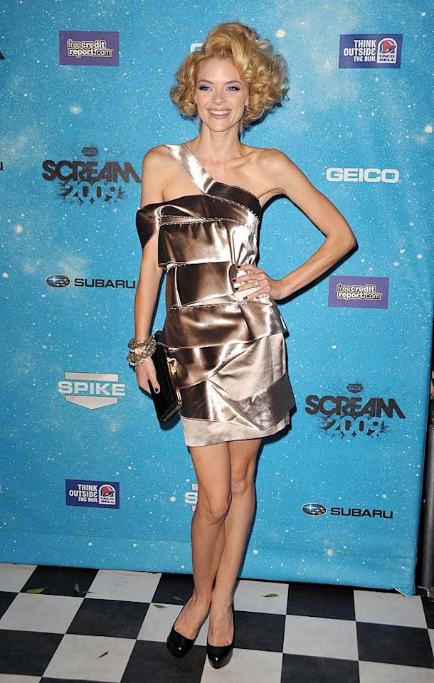 "Speaking of catastrophic coifs, Jaime King sported this scary 'do to Spike TV's 2009 Scream Awards. John Shearer/<a href=""http://www.wireimage.com"" target=""new"">WireImage.com</a> - October 17, 2009"