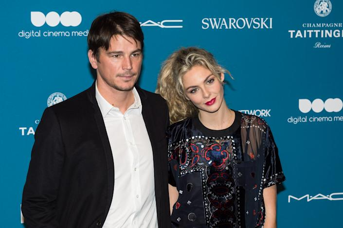 Josh Hartnett and Tamsin Egerton attend the 21st British Independent Film Awards (BIFAs) at Old Billingsgate in the City of London. (Photo by Wiktor Szymanowicz / Barcroft Media via Getty Images)