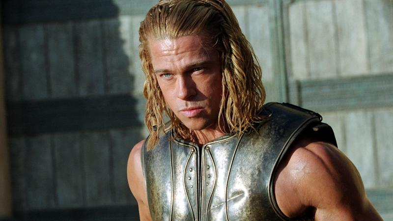 Brad Pitt in Troy (Credit: Warner Bros)