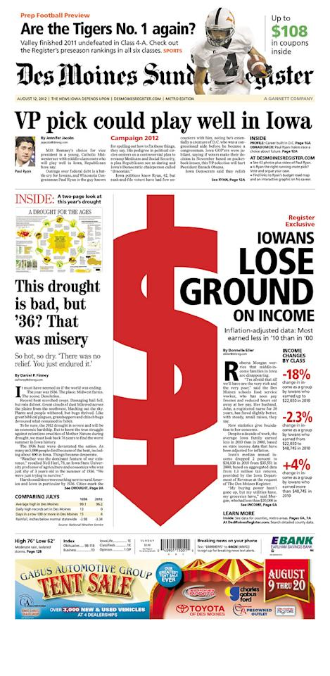 Des Moines Register, Aug. 12, 2012