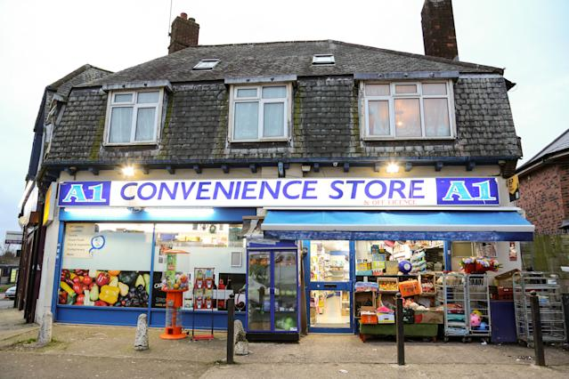 The A1 Convenience Store, Kingstanding, Birmingham. (SWNS)