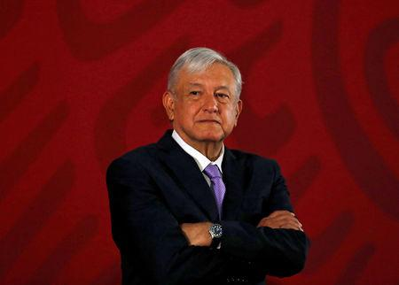 FILE PHOTO: Mexico's President Andres Manuel Lopez Obrador attends a news conference at the National Palace in Mexico City