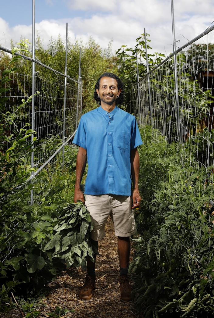 "Organic farmer Rishi Kumar. <span class=""copyright"">(Christina House / Los Angeles Times)</span>"