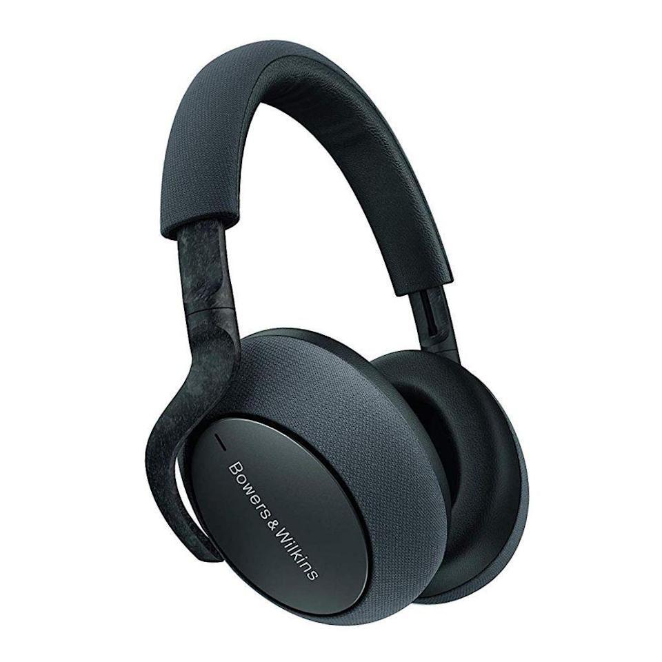 """<p><strong>Bowers & Wilkins</strong></p><p>amazon.com</p><p><strong>$398.98</strong></p><p><a href=""""https://www.amazon.com/dp/B07WK5XT8T?tag=syn-yahoo-20&ascsubtag=%5Bartid%7C2089.g.864%5Bsrc%7Cyahoo-us"""" rel=""""nofollow noopener"""" target=""""_blank"""" data-ylk=""""slk:Shop Now"""" class=""""link rapid-noclick-resp"""">Shop Now</a></p><p>The Bowers & Wilkins PX7 wireless noise-canceling headphones have a beautiful design, superb craftsmanship, and equally amazing tactility. The over-ear cans are made using carbon fiber composite material that's typically found in supercars, metal, and fabric. As a result, every interaction with them feels special. </p><p>The sound of the PX7 is as amazing as their design and finish. That's hardly a surprise, because the headphones have been tuned by the team that created the legendary Bowers & Wilkins 800 Diamond Series speakers. The noise-canceling performance is equally impressive and easy to adjust via a dedicated button, as well as a mobile app. </p><p>The cans are available in silver or space gray. In case you're looking for more compact wireless headphones with on-ear design, consider the <a href=""""https://www.amazon.com/dp/B07WJ2MNCH?tag=syn-yahoo-20&ascsubtag=%5Bartid%7C2089.g.864%5Bsrc%7Cyahoo-us"""" rel=""""nofollow noopener"""" target=""""_blank"""" data-ylk=""""slk:Bowers & Wilkins PX5"""" class=""""link rapid-noclick-resp"""">Bowers & Wilkins PX5</a> instead. </p>"""