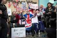 """<p>They have even been known to <a href=""""http://www.telegraph.co.uk/news/uknews/kate-middleton/10195105/Aerial-footage-Huge-crowds-gather-outside-royal-baby-hospital.html"""" rel=""""nofollow noopener"""" target=""""_blank"""" data-ylk=""""slk:sleep there over night"""" class=""""link rapid-noclick-resp"""">sleep there over night</a>. </p>"""