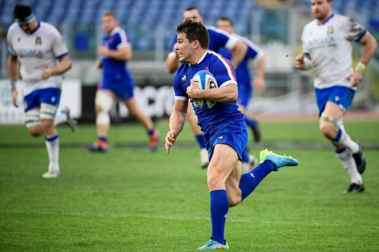 France scrum-half Antoine Dupont scored one try in the win over Italy when he was man of the match