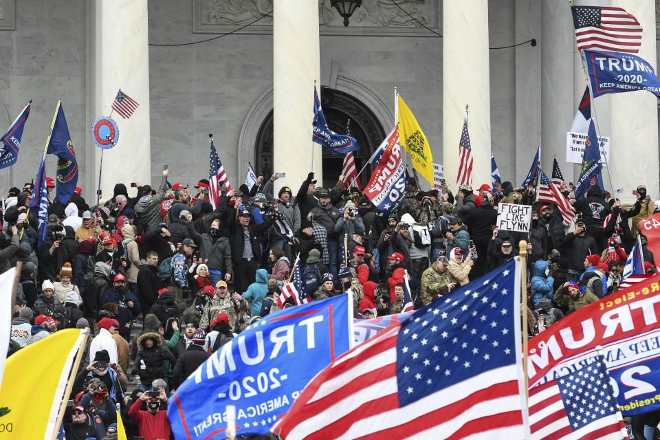 The United States Capitol Building in Washington, D.C. was breached by Trump supporters on January 6. Source: AP