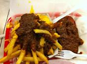 """<p><a href=""""http://benschilibowl.com/"""" rel=""""nofollow noopener"""" target=""""_blank"""" data-ylk=""""slk:Ben's Chili Bowl"""" class=""""link rapid-noclick-resp"""">Ben's Chili Bowl</a>, Washington</p><p><span class=""""redactor-invisible-space""""> """"You can't go wrong with the Chili Half-Smoke hotdog. Add up more calories with the Chili French fries. The vanilla thick milkshake will sweeten the chili burn."""" -Foursquare user <a href=""""https://foursquare.com/jerometomasini"""" rel=""""nofollow noopener"""" target=""""_blank"""" data-ylk=""""slk:Jérôme Tomasini"""" class=""""link rapid-noclick-resp"""">Jérôme Tomasini</a> <br></span></p>"""