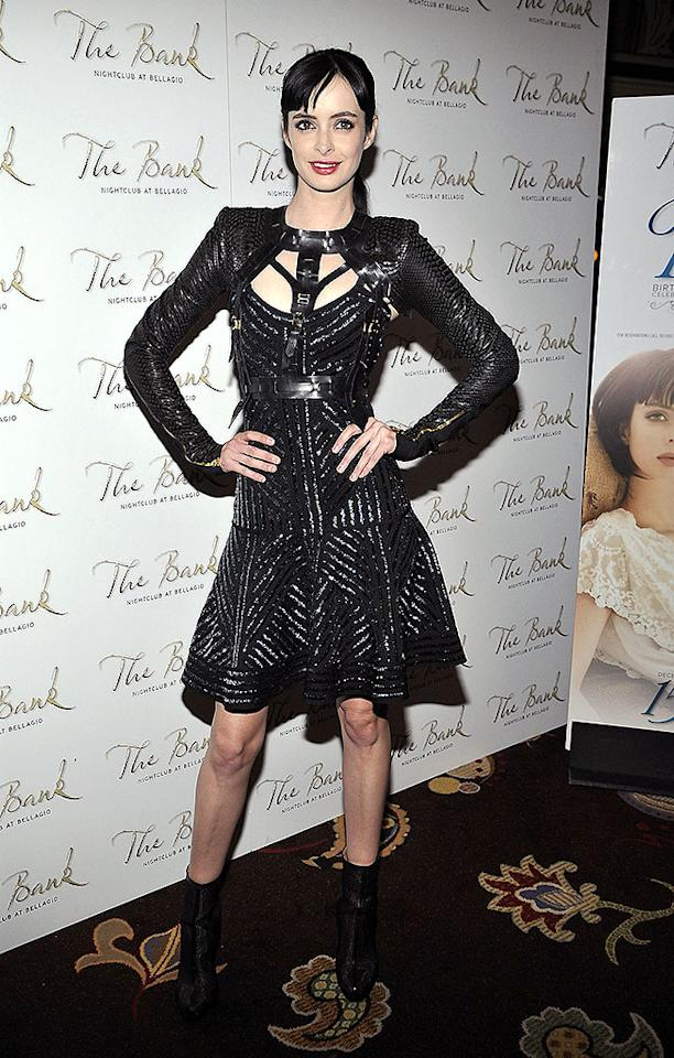LAS VEGAS, NV - DECEMBER 15:  Actress Krysten Ritter arrives at The Bank Nightclub at the Bellagio to celebrate her birthday on December 15, 2012 in Las Vegas, Nevada. Ritter turns 31 on December 16.  (Photo by Jeff R. Bottari/Getty Images)