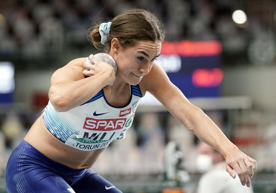 Holly Mills finished fifth in the pentathlon at the European Athletics Indoor Championships in Poland earlier this month © REUTERS