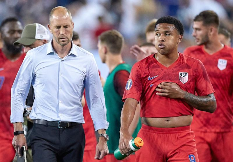 Weston McKennie has noted similarities in how Schalke and USMNT manager Gregg Berhalter run training. (Photo by Robin Alam/Icon Sportswire via Getty Images). (Getty