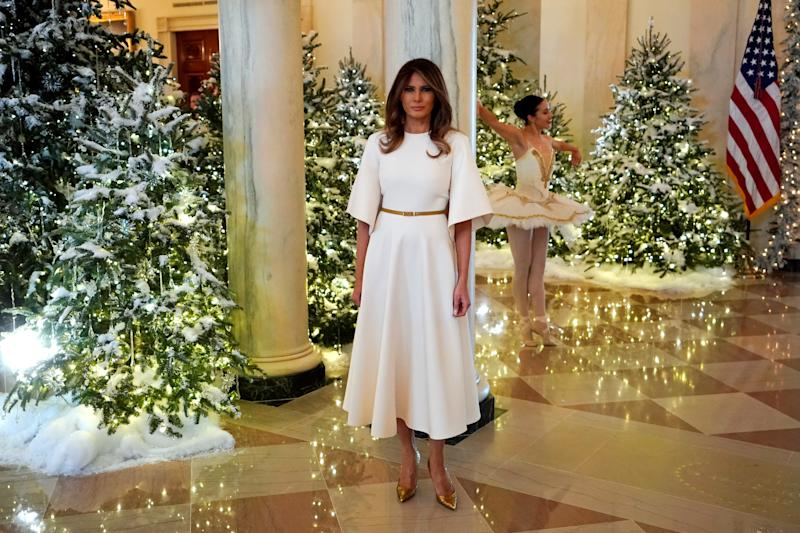 the daily show turns melania trumps christmas decorations into a horror movie - Trump Christmas Decorations