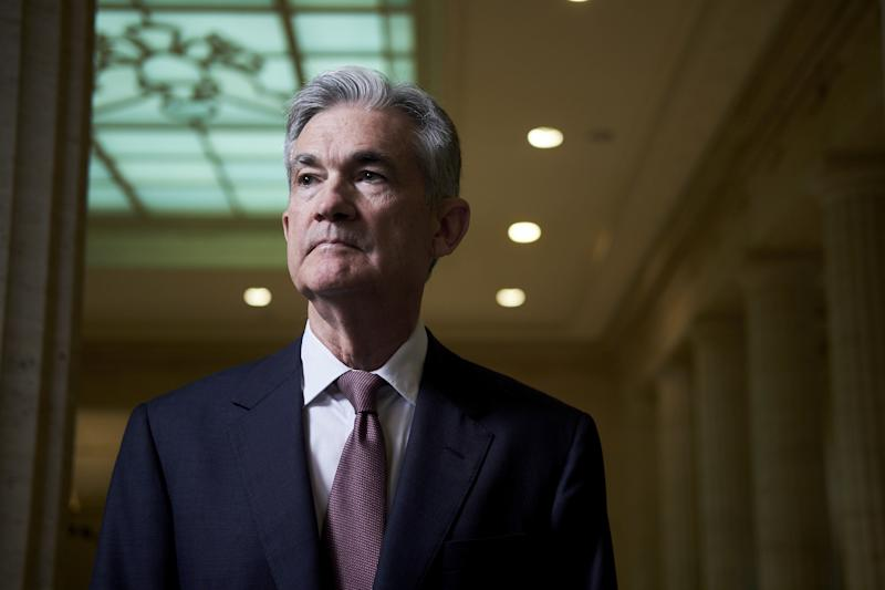 Jay Powell, governor of the U.S. Federal Reserve, stands for a photograph at the board's headquarters in Washington, D.C., U.S., on Thursday, April 13, 2017. As the lone Republican on the Fed's seven-seat board and someone with in-depth knowledge of how the central bank works, Powell's influence looks set to increase as President Donald Trump prepares to fill three vacancies. Photographer: T.J. Kirkpatrick/Bloomberg via Getty Images