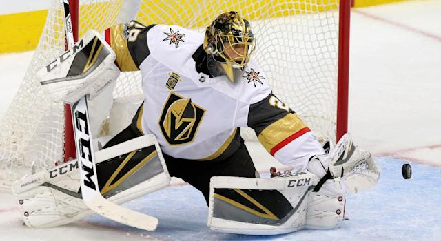 "Marc-Andre Fleury demonstrated his value for the Golden Knights on Friday versus the <a class=""link rapid-noclick-resp"" href=""/nhl/teams/dal/"" data-ylk=""slk:Dallas Stars"">Dallas Stars</a>. (AP Photo/LM Otero)"