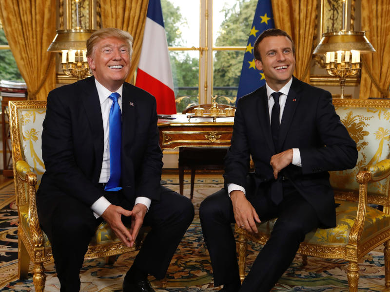 French President Emmanuel Macron and US President Donald Trump: AFP/Getty Images