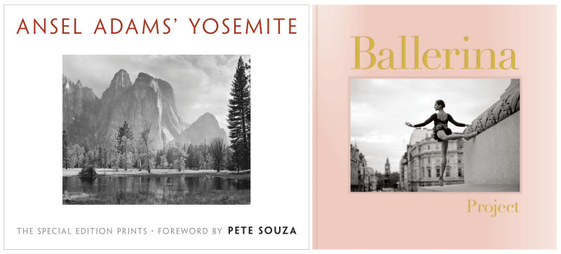 """This combination of cover images shows, from left, """"Ansel Adams' Yosemite,"""" by Ansel Adams and """"Ballerina Project,"""" with photographs by Dan Shitagi. (Little Brown and Company/Chronicle Books via AP)"""
