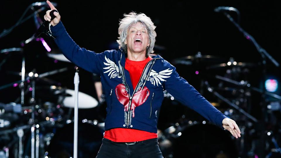 Jon Bon Jovi on stage in Rio in 2019