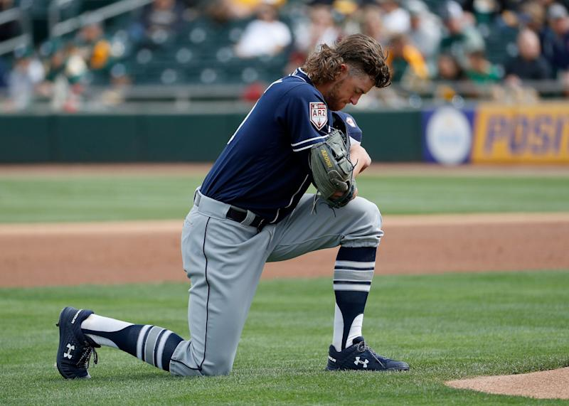 0bac8a9e In this March 8, 2019, file photo, San Diego Padres pitcher Chris Paddack