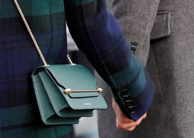 Meghan Markle's Strathberry leather crossbody bag.