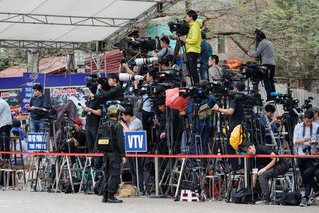FILE PHOTO - Members of the media wait for the arrival of North Korean leader Kim Jong Un at Dong Dang railway station, where his train will depart from the border with China, in Dong Dang, Vietnam March 2, 2019. REUTERS/Kim Kyung-Hoon/File Photo