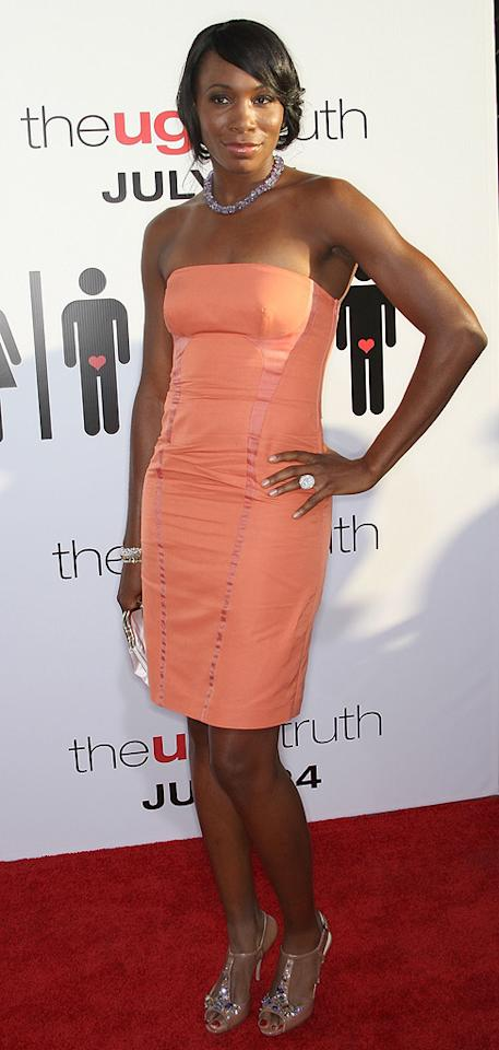 "<a href=""http://movies.yahoo.com/movie/contributor/1800394279"">Venus Williams</a> at the Los Angeles premiere of <a href=""http://movies.yahoo.com/movie/1810021980/info"">The Ugly Truth</a> - 07/16/2009"