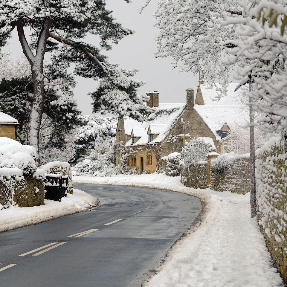"""<p>Take a walk through the 'Jewel of the Cotswolds' and take in the thatched cottages sprinkled with snow and look for the snowdrops adorning the winding country lanes. The winter scenes here are a sure showstopper. </p><p><strong>MORE: </strong><a href=""""http://www.countryliving.co.uk/homes-interiors/property/a902/darcy-house-stone-cottage/"""" rel=""""nofollow noopener"""" target=""""_blank"""" data-ylk=""""slk:Darcey House stone cottage is your dream Cotswold home"""" class=""""link rapid-noclick-resp""""><strong>Darcey House stone cottage is your dream Cotswold home</strong></a></p>"""