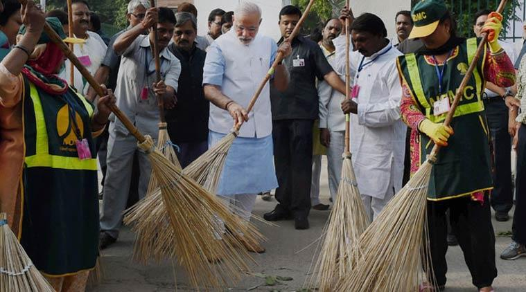 swachh bharat mission, swachh bharat abhiyaan, narendra modi, clean india mission, sanitation in india, open defecation free, Indian Express